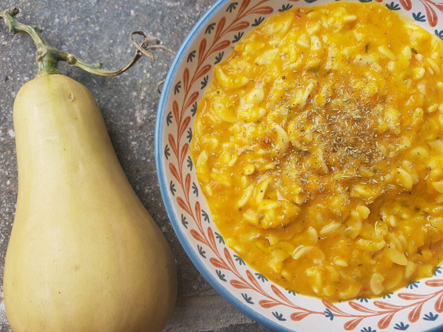 Pasta risottata con la zucca